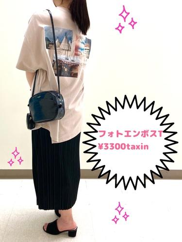 CAMP7 フォトエンボスTシャツ ¥3300(税込)