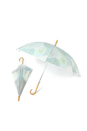 森柄プリントビニール傘の画像